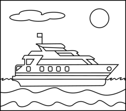 Yacht coloring #1, Download drawings