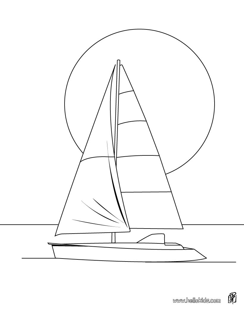 Yacht coloring #17, Download drawings
