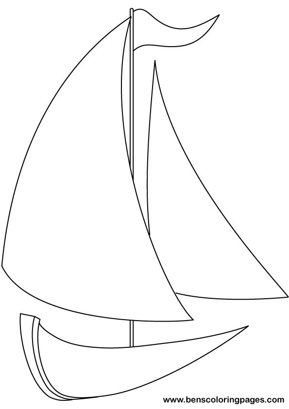 Yacht coloring #4, Download drawings