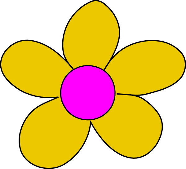 Yellow Flower clipart #2, Download drawings
