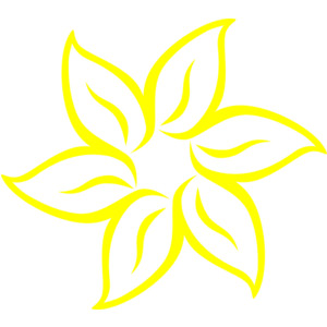 Yellow Flower clipart #6, Download drawings