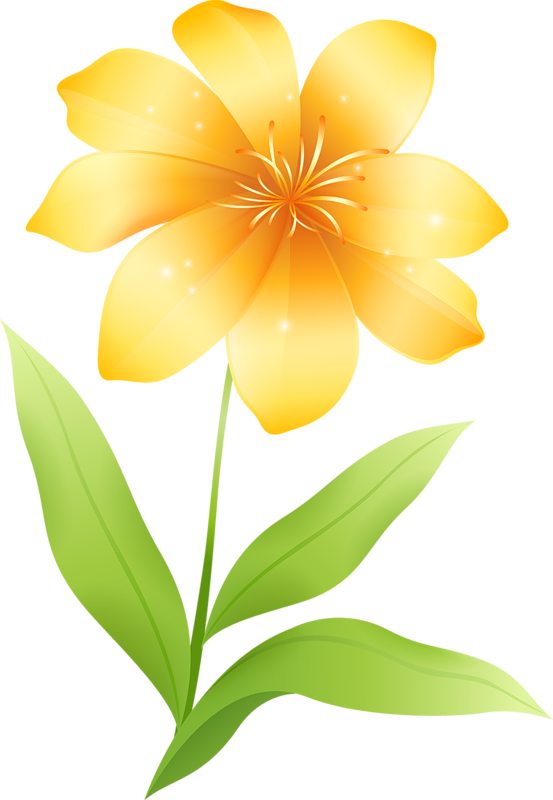 Yellow Flower clipart #3, Download drawings