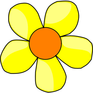 Yellow Flower clipart #17, Download drawings