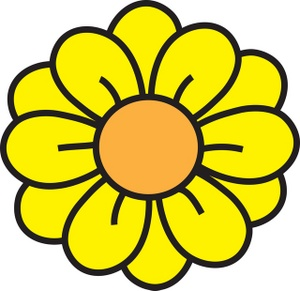 Yellow Flower clipart #13, Download drawings