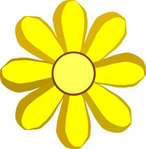 Yellow Flower clipart #14, Download drawings