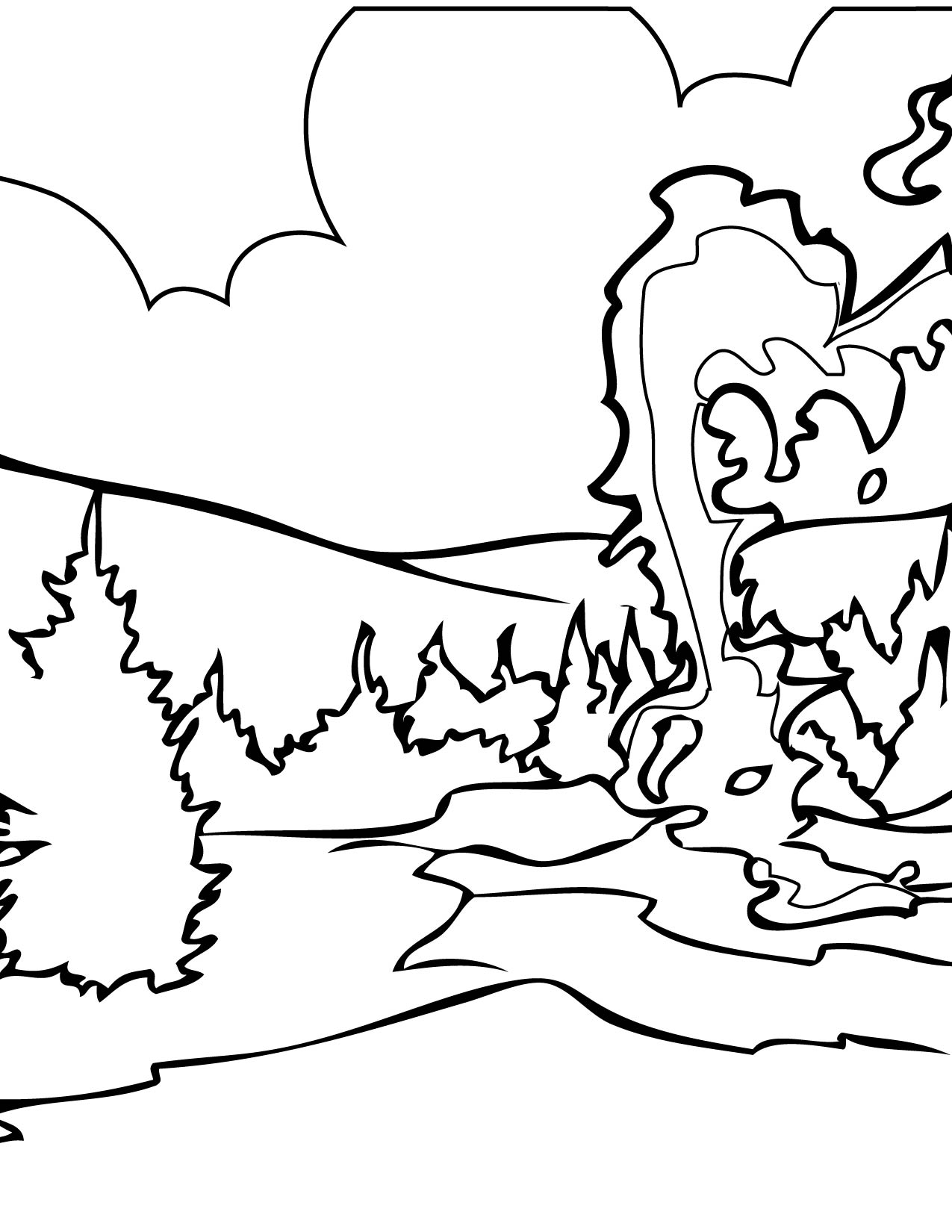 Yellowstone coloring #2, Download drawings