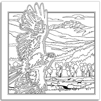 Yellowstone coloring #3, Download drawings
