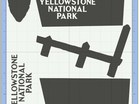 Yellowstone National Park svg #5, Download drawings