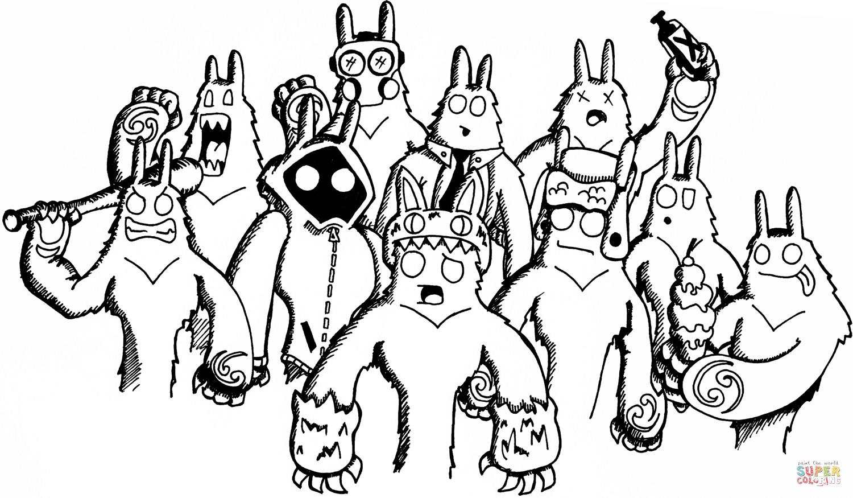 Yeti coloring #3, Download drawings