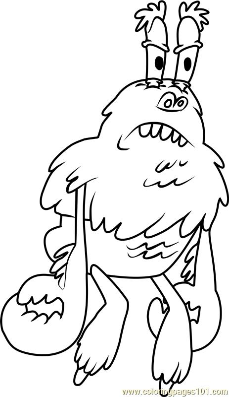 Yeti coloring #12