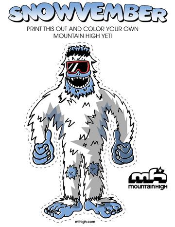 Yeti coloring #4, Download drawings