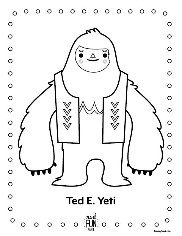 Yeti coloring #17, Download drawings