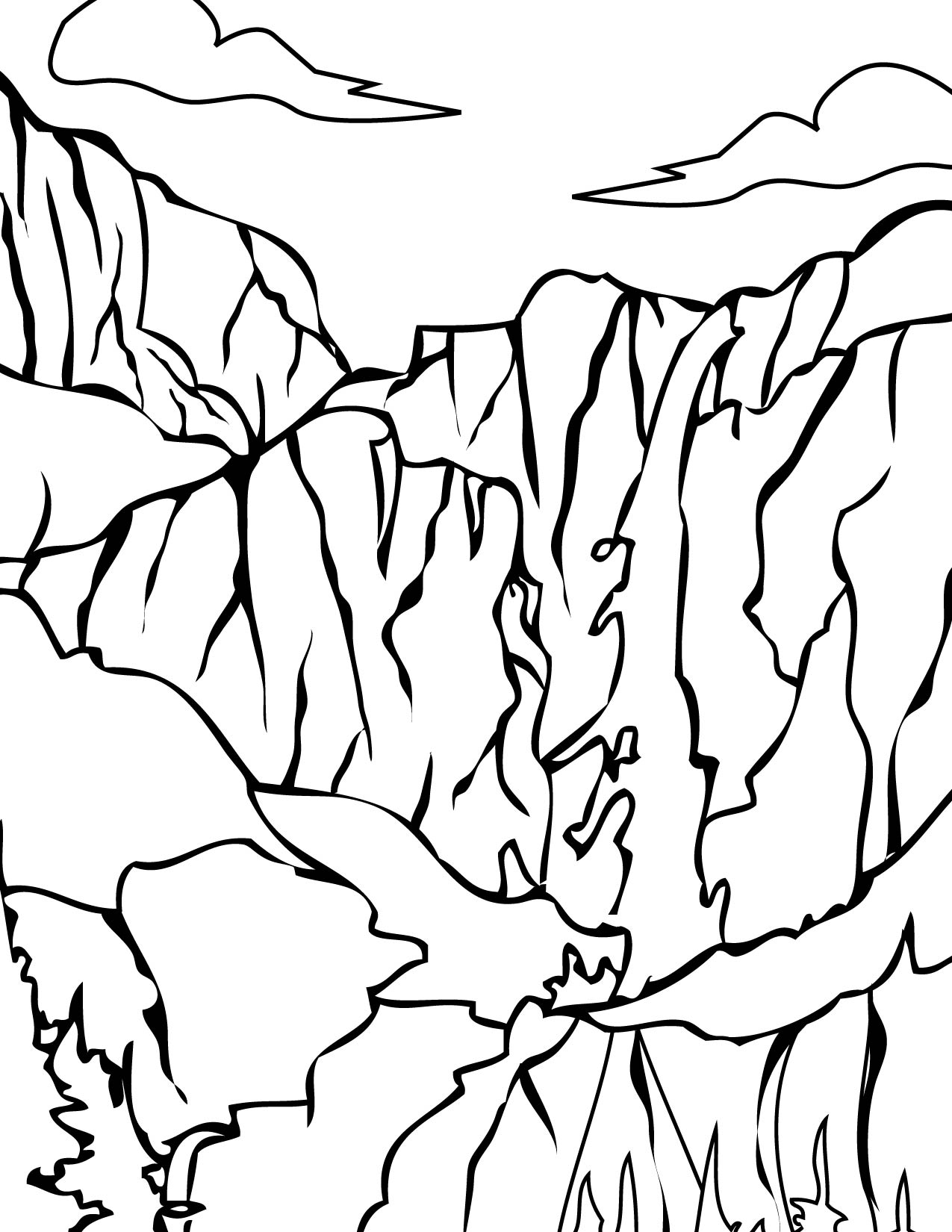 Yosemite national park coloring download yosemite for Park coloring pages