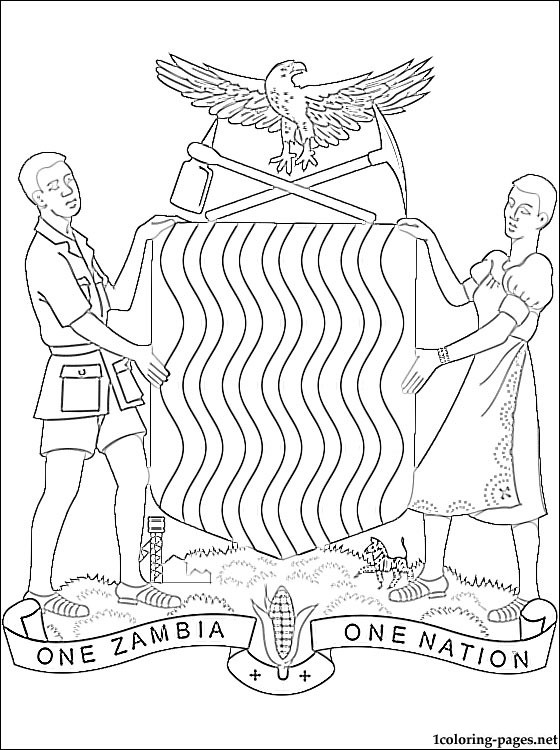 Zambia coloring #2, Download drawings
