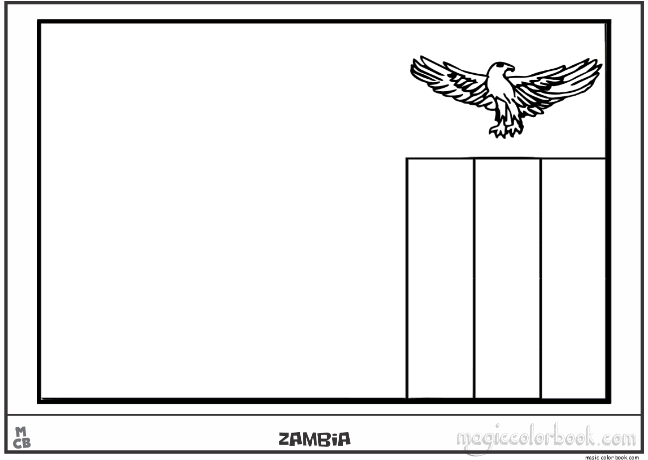 Zambia coloring #7, Download drawings