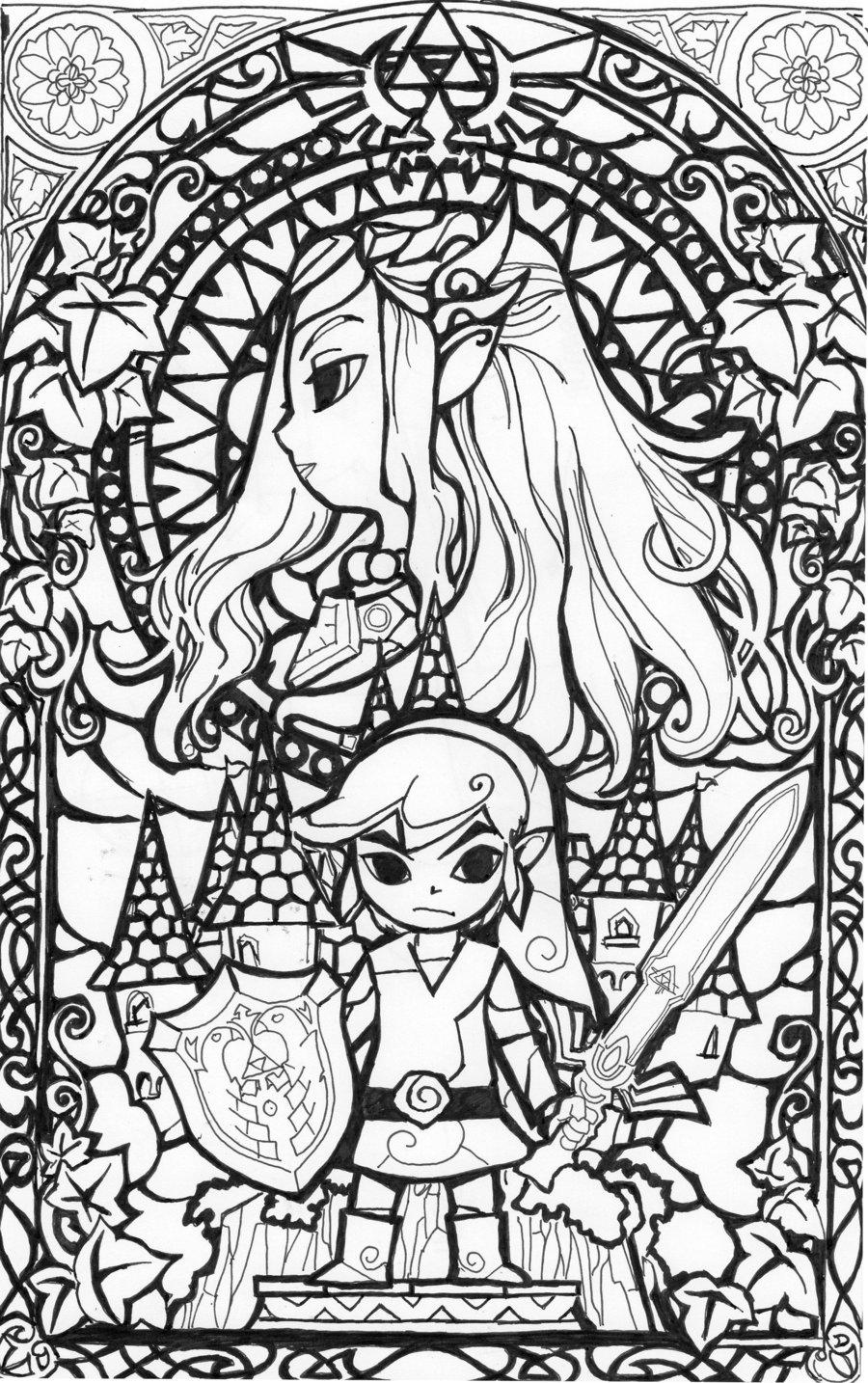 The Legend Of Zelda coloring #16, Download drawings