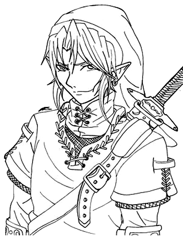 The Legend Of Zelda coloring #20, Download drawings