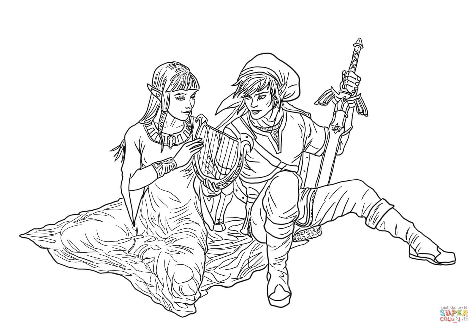 The Legend Of Zelda coloring #1, Download drawings