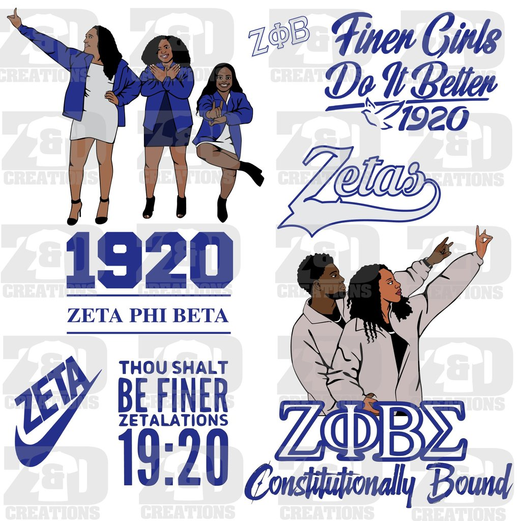 zeta phi beta svg #26, Download drawings