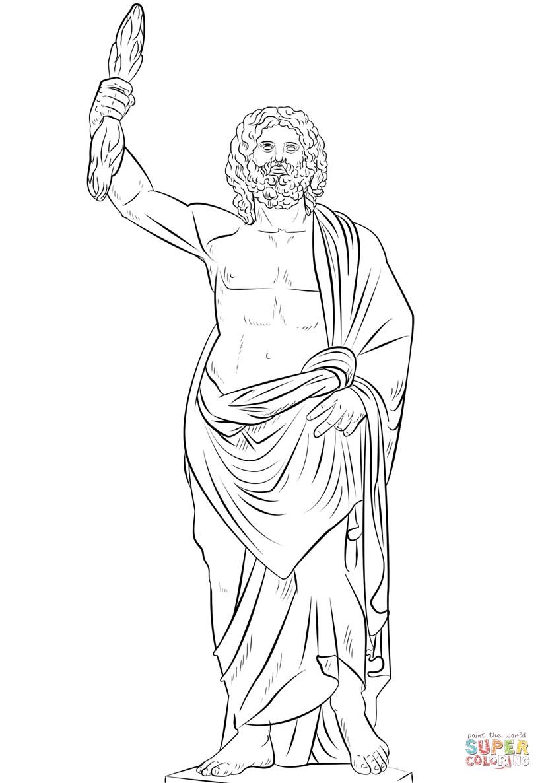 Zeus coloring #7, Download drawings