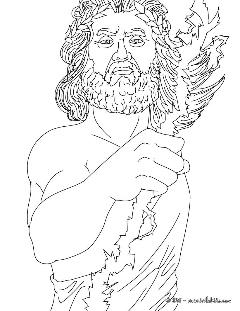 Zeus coloring #3, Download drawings