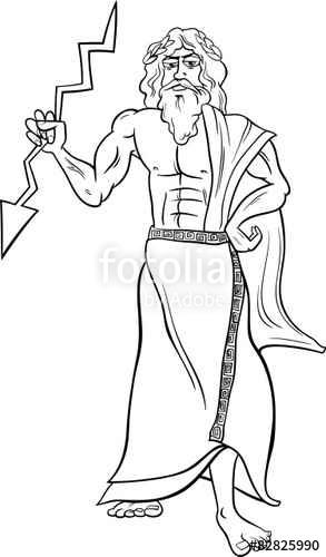 Zeus coloring #15, Download drawings