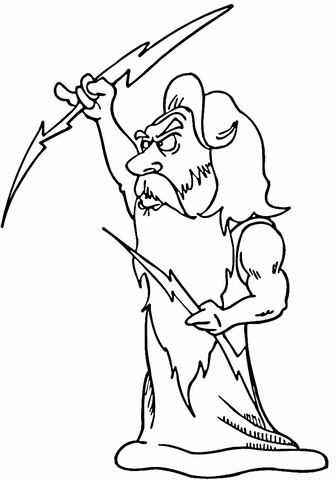 Zeus coloring #15