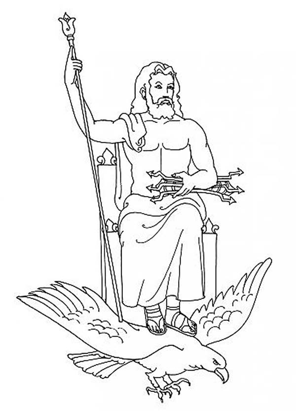 Zeus coloring download zeus coloring for Coloring pages of greek gods