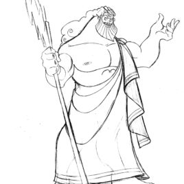 Zeus coloring #12