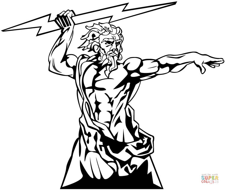 Zeus coloring #14, Download drawings
