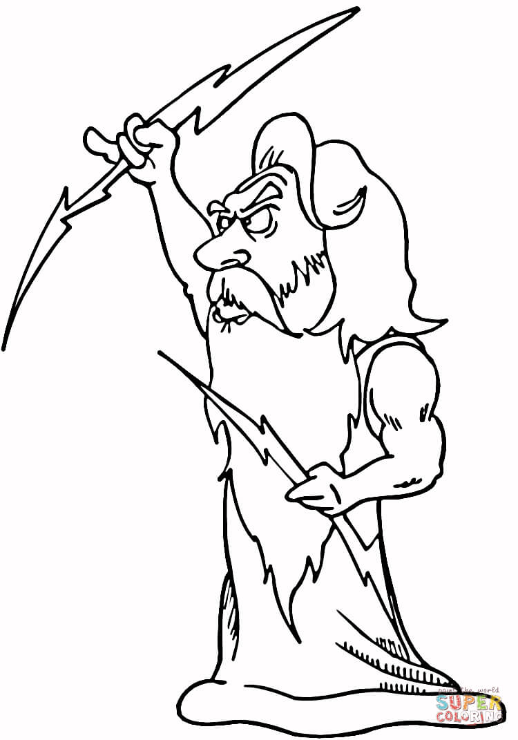 Zeus coloring #12, Download drawings