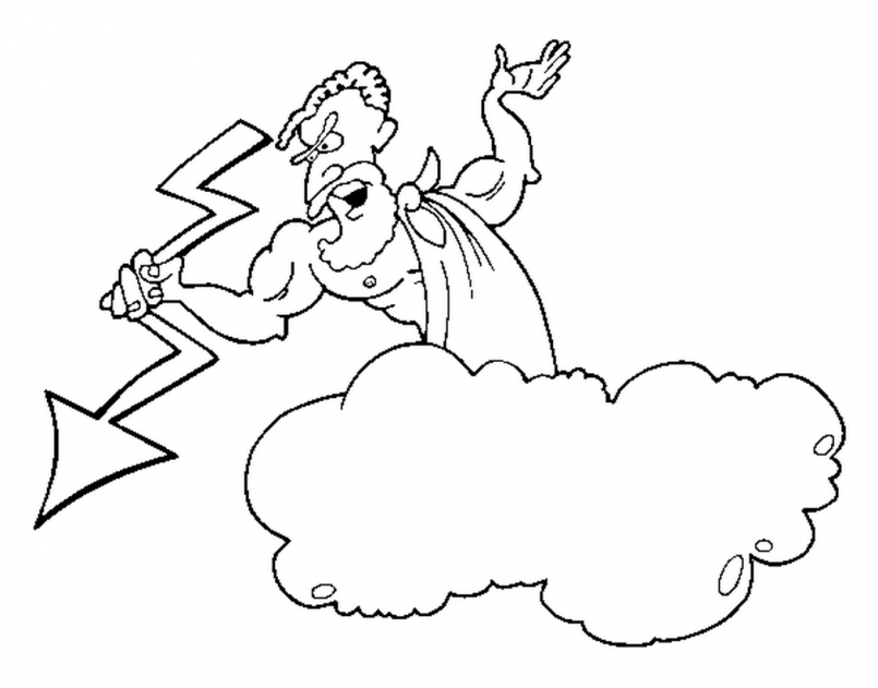 Zeus coloring #1, Download drawings