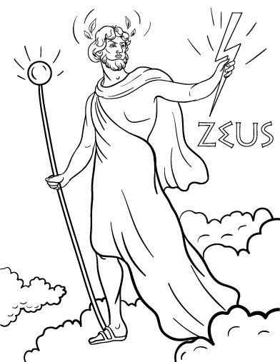 Zeus coloring #10, Download drawings