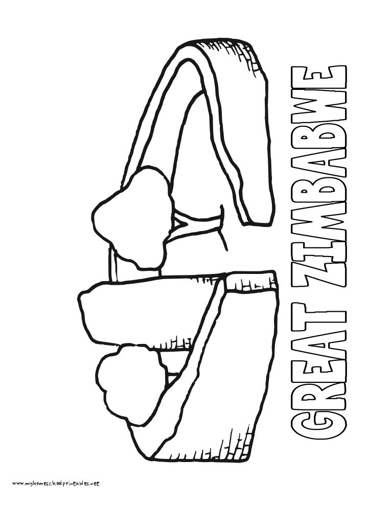 Zimbabwe coloring #15, Download drawings
