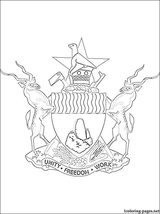 Zimbabwe coloring #20, Download drawings