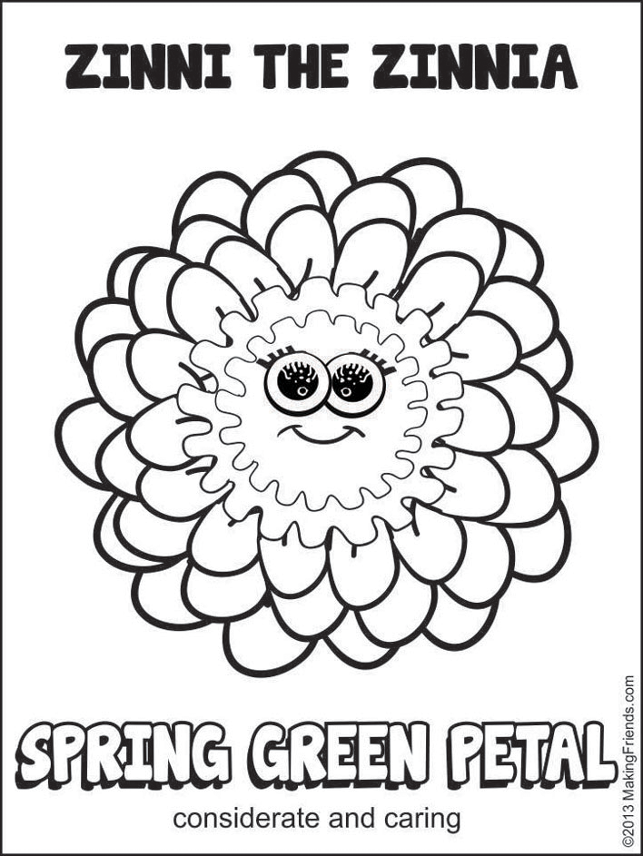 Zinnia coloring #19, Download drawings