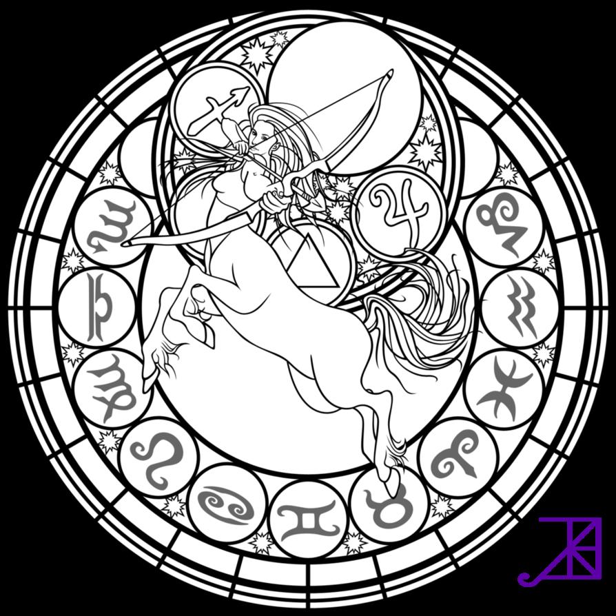 Sagittarius (Astrology) coloring #1, Download drawings