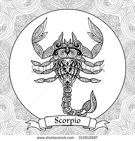 Zodiac Sign coloring #16, Download drawings