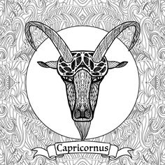 Zodiac Sign coloring #5, Download drawings