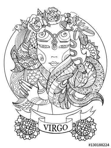 Zodiac Sign coloring #6, Download drawings