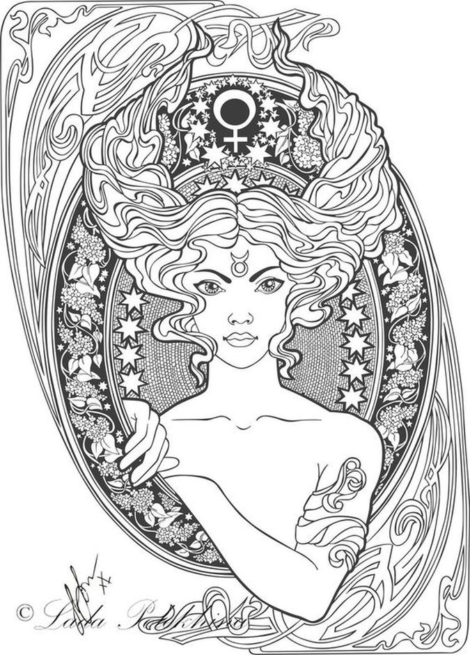 Zodiac Sign coloring #10, Download drawings