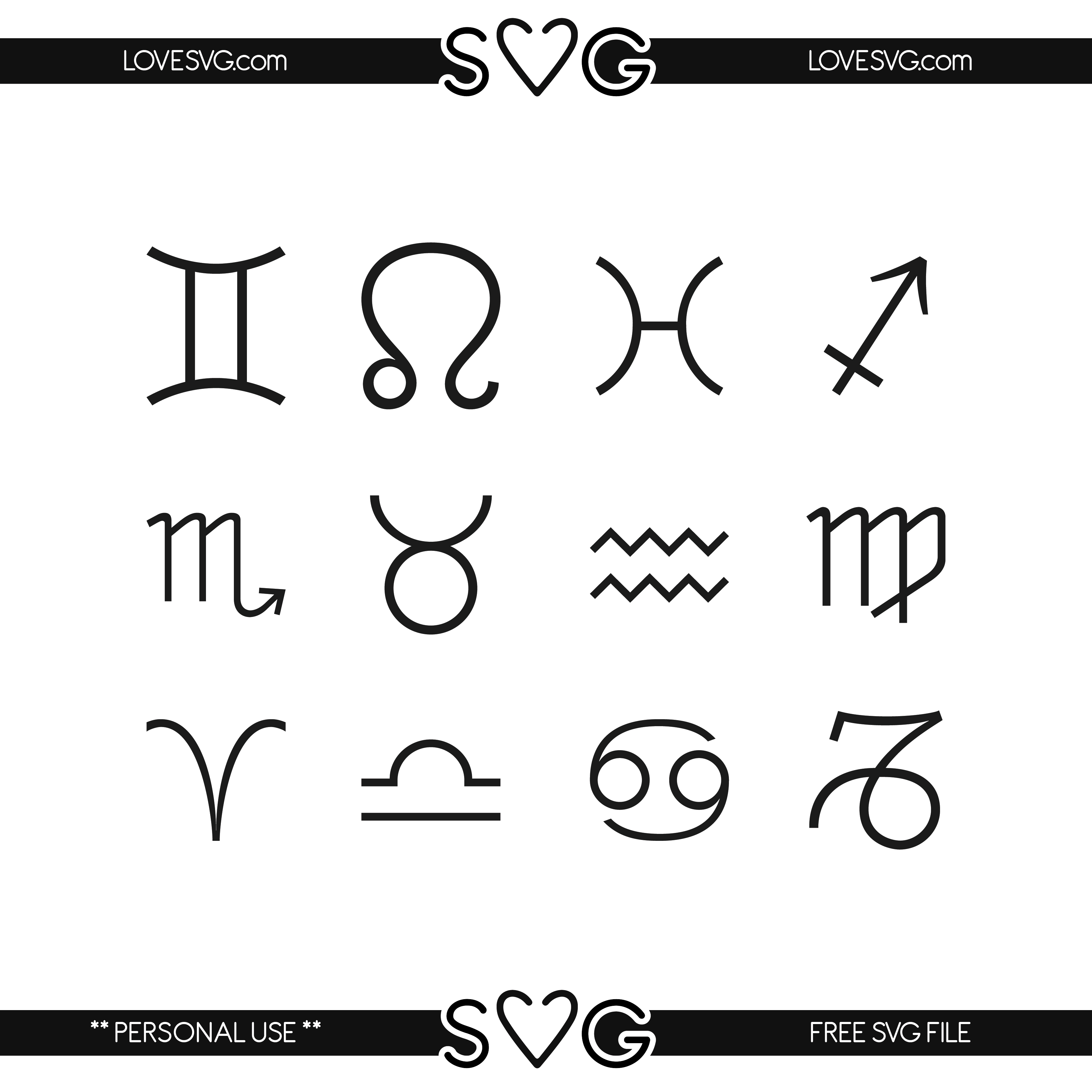 Zodiac Sign svg #20, Download drawings
