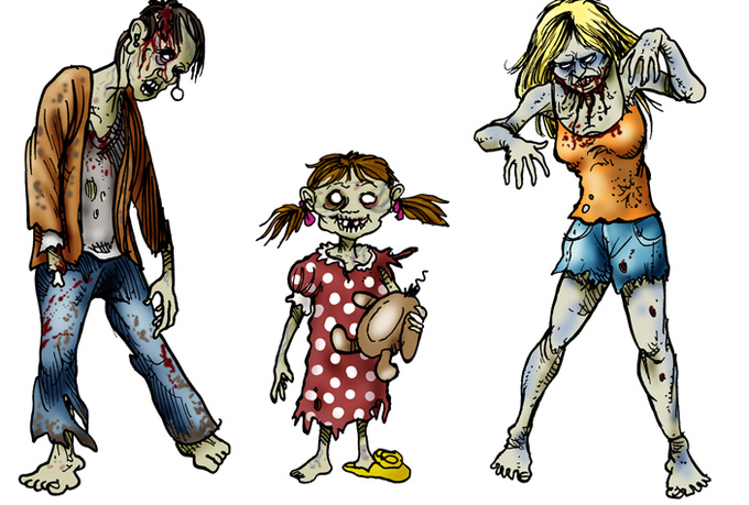 Zombie clipart #10, Download drawings