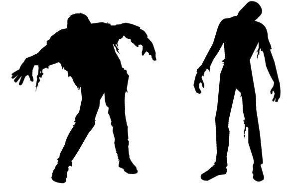 Zombie clipart #1, Download drawings