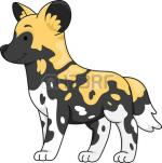 African Wild Dog clipart