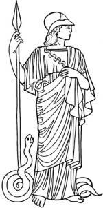 Athena (Deity) coloring