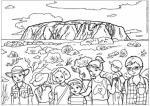 Uluru coloring