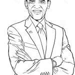 Barack Obama coloring