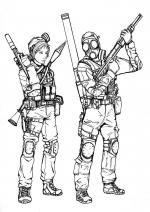 Battlefield coloring