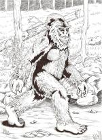Bigfoot coloring